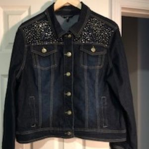 Baccini Jean Jacket with Embellishments SIZE XL